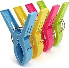 igadgitz Home U6815 Kunststoff Wäscheklammern Groß Quilt Clips Handtuch Klammern für Tägliche Wäsche, Schwere Badetuch, Sonnenbank, Strandtuch, Dicke Teppich etc