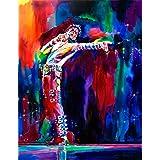 VVWV Mj Michael Jackson Stylish Canvas Motivational Dancing Art Painting Posters for Wall Living Room Boys Girls (W X H 12 X