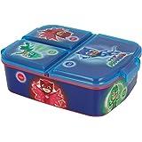 Lunchbox met 3 vakken voor kinderen, lunchbox (Disney, Frozen, LOL, Paw Patrol...) PJ MASKS