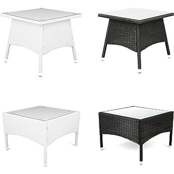 Amazon De Estexo Polyrattan Beistelltisch Tisch Rattan