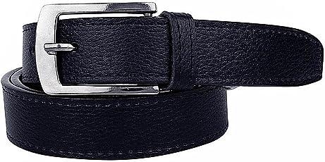 Krystle Boy's PU Leather Belt (KRY-BOY-BLK-BELT, Black, Free Size)