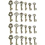 KUNSE 24 Antieke Oude Vintage Look Skelet Sleutels Lot Bronzen Toon Hangers Sieraden Mix Set