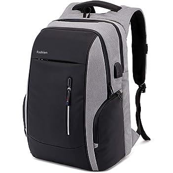 0518c66ad313da Xnuoyo Laptop Zaino Antifurto, 17.3 Pollici Impermeabile Zaino Porta PC con  Porta USB di Ricarica Interfaccia Cuffie Zaino da Viaggio per Il Viaggio  per ...