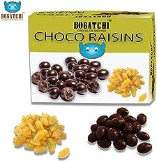 BOGATCHI Chocolate Coated Raisins, Rich Dark Chocolate Coated Dry Fruits, 100 Grams