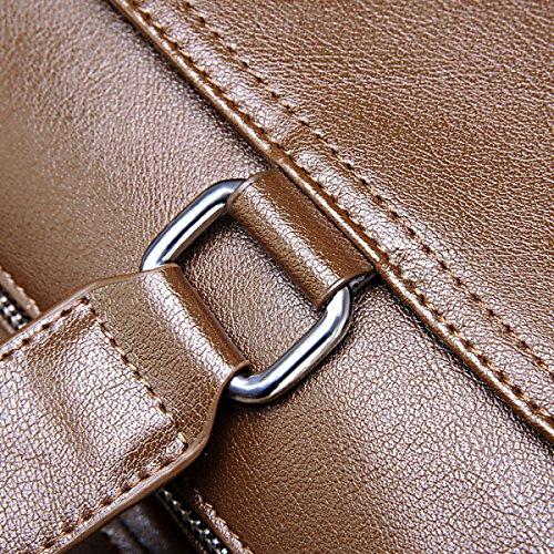 Yy.f Mann Tasche Handtasche Horizontal Absatz Aktentasche Business Casual Beutel Schulterkuriermann Beutel Computerbeutel Normallack-Paket A