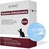 PiuPet® Kattennet transparant - Balkonnet transparant ideaal voor uw kat - Kattennet voor balkon & raam incl. kabelbinders &
