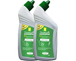 Organica ThinkSafe Natural Toilet Cleaner Liquid, Eco friendly, Protects Against Germs, Septic tank safe, Garden Bloom-475ml