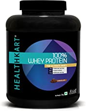 Healthkart 100% Whey Protein Supplement Powder 2 Kg/ 4.4 Lb, Chocolate (25 G Protein In 31 G Serving)