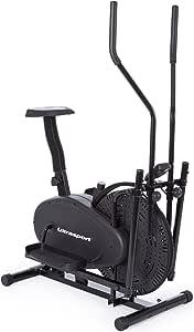 Ultrasport Vélo elliptique Basic X-Trainer 250 / pour le renforcement des jambes, des fesses, des hanches, des bras, des épaules, avec console multifonction et affichage des dépenses caloriques