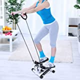 Mini Fitness Twist Stepper Electronic Display Home Exercise Equipment with Resistance Bands