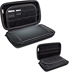 3DS XL Case, Orzly Carry Case for New 3DS XL or Nintendo 3DS XL - Protective Hard Shell Portable Travel Case Pouch for 3DSXL Consoles with Slots for Games & Zip Pocket - BLACK on Black