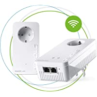 Devolo Magic 1 Wifi: starkes Powerline-Starter Kit mit WLAN-Funktion, bis 1200 Mbit/s Wifi AC, 2x Fast Ethernet LAN-Anschluss pro Adapter, integrierte Steckdose, Mesh WiFi, Access Point, weiß