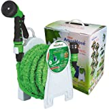 AquaHose Expandable Magic 5mtr Hose  Expandable upto 15mtr  50'  at pressure   and Reel  Garden Set   Fixed Type
