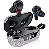 CRUA Earbuds Wireless Bluetooth 5.0 with Mic Bass Sound TWS Earphones, Up to 20 Playtime with Led Digital Display…