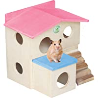 PetNest Wooden Log Hideout House for Small Animals Hide House/Hammock for Hamster/Dwarf/Mice/Gerbil/Chinchilla/Hedgehog…