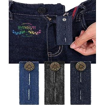 KANGYH Extension de la Taille du Pantalon et Boutons Extenders, Ensemble de  Extension de Ceinture pour des Pantalons de Robe, des Kaki, des Jeans et  des ... 7856a935b849