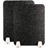 AHMI Schreibtischteiler 11,8 Zoll x 31,4 Zoll Desktop-Datenschutzbereich mit 2 Klemmhalterung Trennwand Niesschutz Grau Datenschutzschilde f/ür Student Schreibtisch Trennw/ände