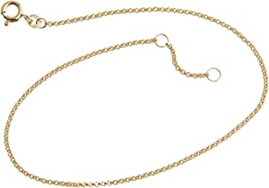 Silberketten-Store Cavigliera Vellutato–1,5mm larghezza–Lunghezza waehlbar 23–30cm–in 333Oro