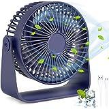TedGem Bureauventilator, USB-ventilator, USB-ventilator, 360° rotatie, stille USB-ventilator, kan aromatherapie-oliën, blazen