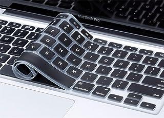 Mobicom MacBook Air Pro Keyboard Skin Cover Protector for US Layout Models A1278, A1286, A1369, A1370, A1398, A1425, A1465, A1466, A1502 (Black)