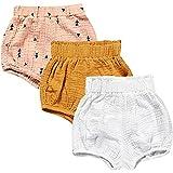 Paquete de 3 pantalones cortos de mezcla de algodón y lino para bebés