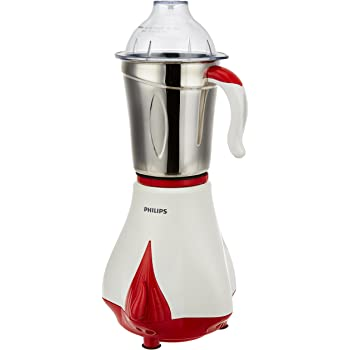 Philips Cooper HL7510/00 550-Watt Mixer Grinder with 3 Jars (Chili Red and White)