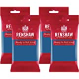 Renshaw Atlantic Blue Ready to Roll Icing 1kg (Multipack 4X 250g)