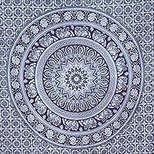 Tapiz Doble Color negro y blanco elefante hippie mandala tapiz indio tradicional playa manta de pared College dormitorio bohemio colgante de pared Boho colcha tapices de pared Arte