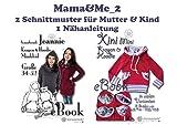 Mama&Me_2 Nähanleitung mit Schnittmuster für Kragen-Hoody Jeannie und Xini für Mutti und Kind [Download]