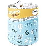 Aladine - Stampo Scrap - Kit de Tampons pour Carterie Créative - Scrap, DIY, loisirs créatifs - Set de tampons à emporter par
