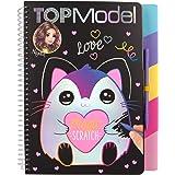 Depesche- Libro para Colorear Magic Scratch, TOPModel, Aprox. 22 x 18,5 x 2 cm, Color carbón (11129)