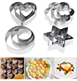 Emporte-pièces, Amison Lot de 12 emporte-pièces en métal en forme de cœur, étoile, cercle, fleur, moules