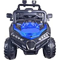 Talreja Enterprises Battery Operated Ride on Jeep for Kids, A909 Double Battery Double Motor - Rechargeable (Blue)