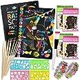 Scratch Art Paper Notebook, Manualidades para niños, scratch art para niños, juego manualidades, plantillas para dibujar niño