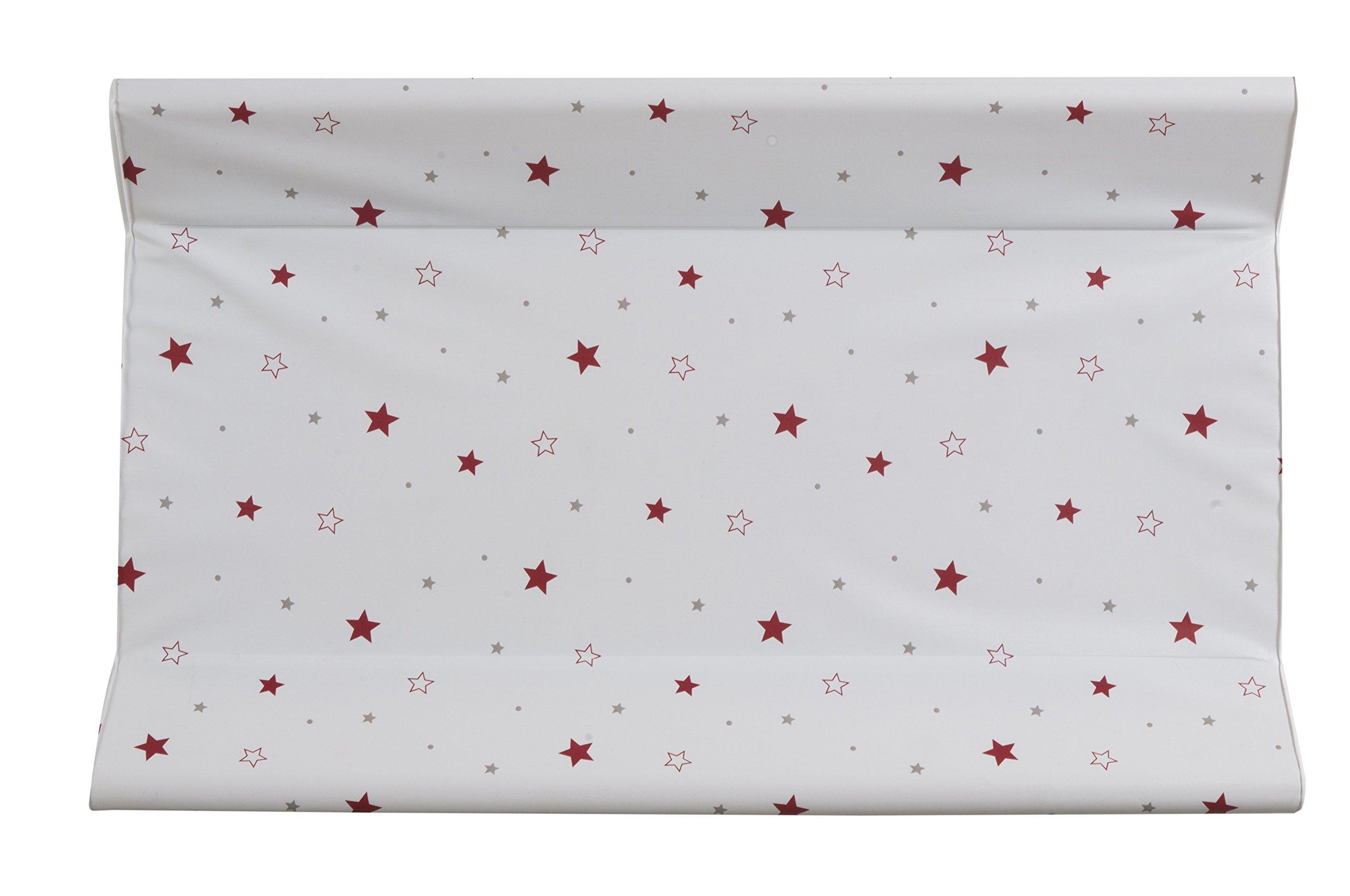 Schardt 13�603�678�cuneo per materassino per fasciatoio con stelle, 50�x 80�cm, colore: rosso