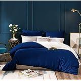 AYSW 14 Couleurs Parure de lit avec Housse de Couette 220 x 240 cm / 65 x 65 x 2 cm Parure 3 pieces pour 2 Personnes avec Fer