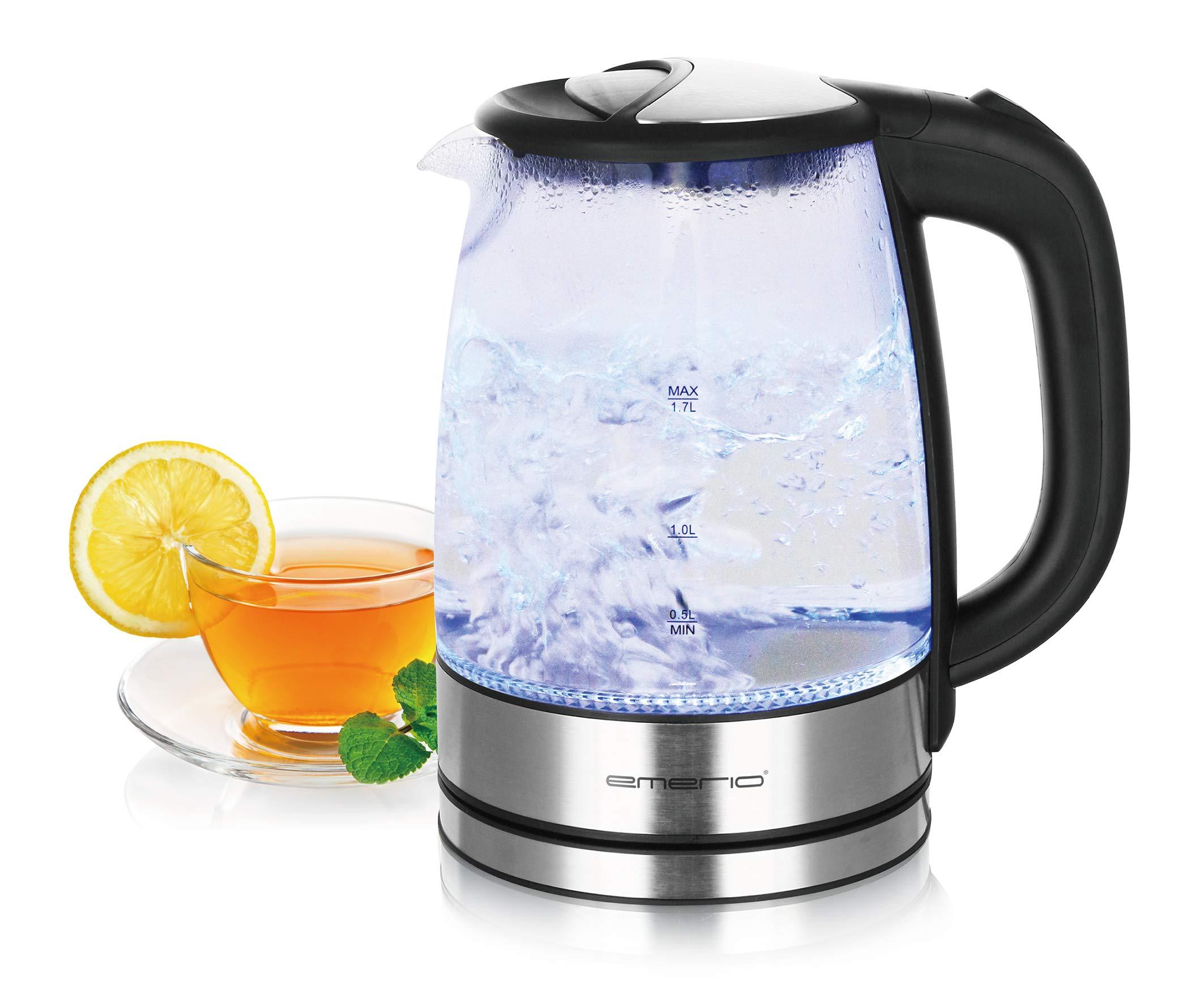 Emerio-WK-119988-Glas-Wasserkocher17-Liter-2200-Watt-LED-Innenbeleuchtung-360-Basis-17-liters-Schwarz-Edelstahl