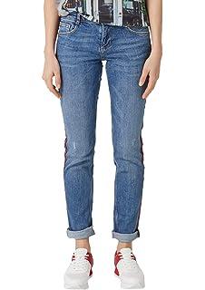 Q//S by s Oliver Catie Slim Fit Jeans Bermuda Caprijeans Hose Damen Stretch Denim