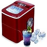 VAZILLIO Machine à Glaçons pour la Maison, Glace Prête en 6 Minutes, 2 Tailles de Glaçons, 9pcs/Cycle, 13kg/Jour, 2L Réservoi