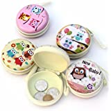 ShopNgift (Pack of 3) Cute OWL Metal Tin Case Pouch For Earphone, Coins, Memory Card, Pendrive & Jewllery Pouch Case…