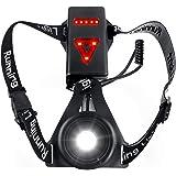 Zenoplige Lámpara de luz para Correr, Recargable por USB, luz LED de Pecho, de Seguridad, Impermeable, con 3 Modos para Corre