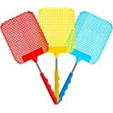 Starthi 3 Pack Extendable Fly Swatter Flexible Manual Swat Pest Control with Durable Stainless Steel Telescopic Handle, Adjus