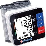FARMAMED Misuratore Pressione Arteriosa Sanguigna da Polso Digitale Portatile, 180 Memorie Totali, 2 utenti, grande schermo LCD