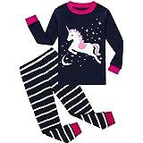 HommyFine Bambine Pigiama per Bambine e Ragazze 2 Pezzi Pigiama a Maniche Lunghe per Ragazze Unicorno Pajama Set per Bambine