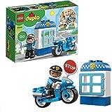 LEGO 10900 DUPLO Town Politiemotor met Speelgoed Motor, Peuterspeelgoed Bouwstenen met Poppetje voor Peuters Van 2 Jaar