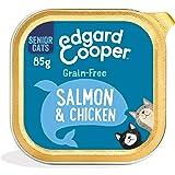 Edgard & Cooper Comida Humeda Gatos Senior Natural Sin Cereales Esterilizados, Latas 19x85g Pollo y Salmon Frescos, Fácil de