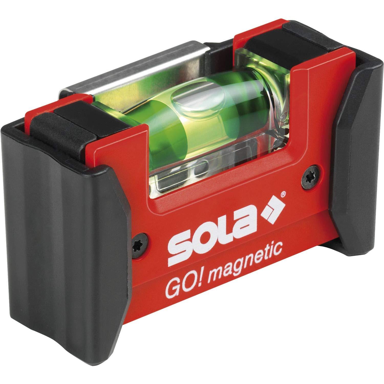 Sola GOMAGNETICCLIP – Nivel de burbuja compacto GO! Magnetic CLIP