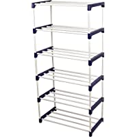 Novatic Heavy Duty Metal, Plastic Foldable, Book Shelf (6 Shelves)