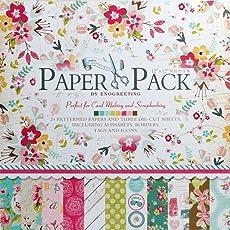 KABEER ART® Decorative Card Making Scrapbooking Paper Pack (24 Patterned Sheets+3 Die Cut Sheets) Sweet life