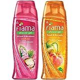 Fiama Patchouli and Macadamia Pure Indulgence Shower Gel, 250ml & Fiama Shower Gel - Peach & Avocado, for Moisturised skin, w